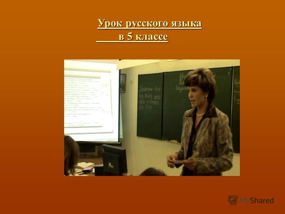 Урок русского языка в 5 классе Урок русского языка в 5 классе