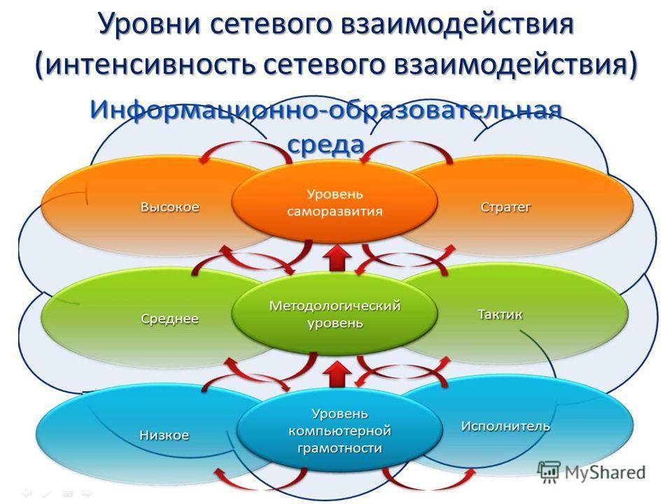 Уровни сетевого взаимодействия (интенсивность сетевого взаимодействия)