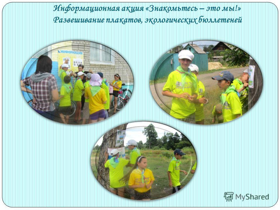 Информационная акция «Знакомьтесь – это мы!» Развешивание плакатов, экологических бюллетеней