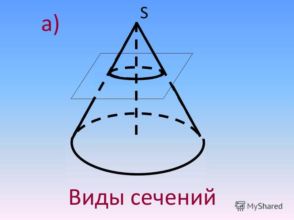 S Виды сечений a)