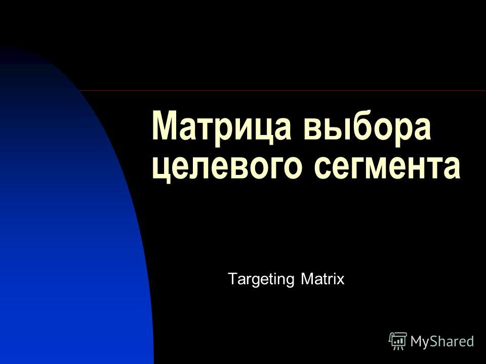 Матрица выбора целевого сегмента Targeting Matrix