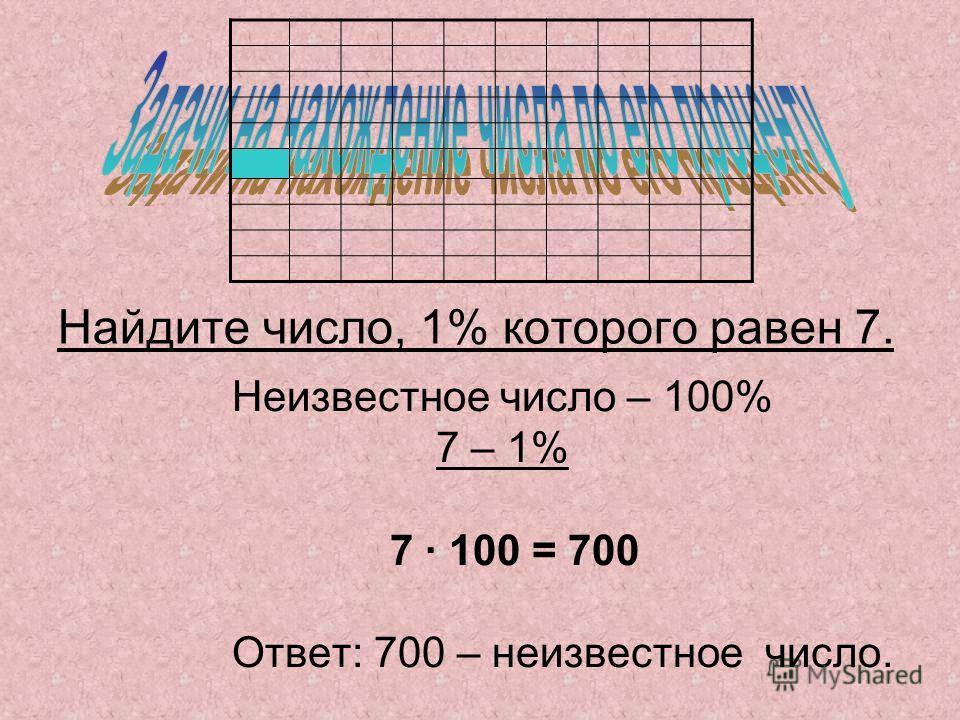 Банк «Винни-Пух и Пятачок» начисляет своим вкладчикам по 10% ежемесячно. Иа-Иа сделал вклад в этот банк в размере 1 рубля. Сколько денег он снимет со своего счёта через два месяца? 1 рубль – это 100% 1) 1 : 100 · 10 = 0,1(руб.) – 10% от 1 рубля. 2) 1