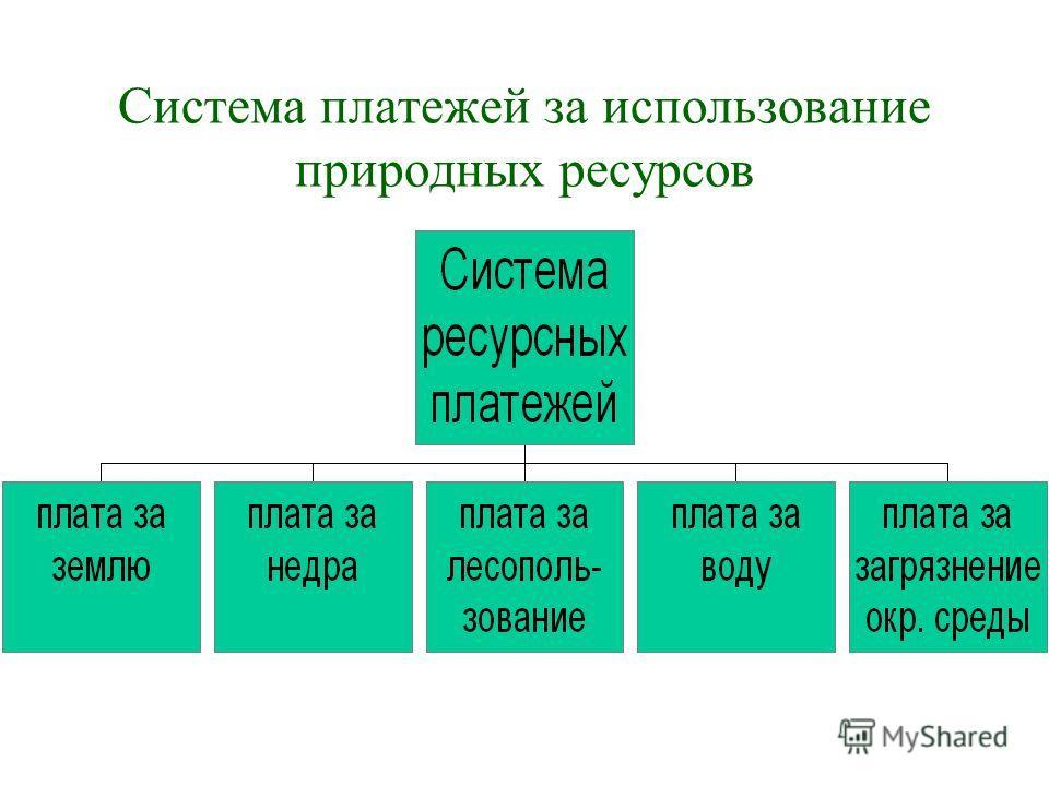 Система платежей за использование природных ресурсов