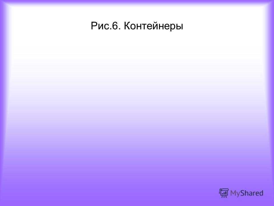 Рис.6. Контейнеры