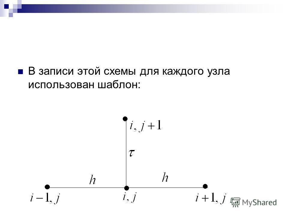 В записи этой схемы для каждого узла использован шаблон: