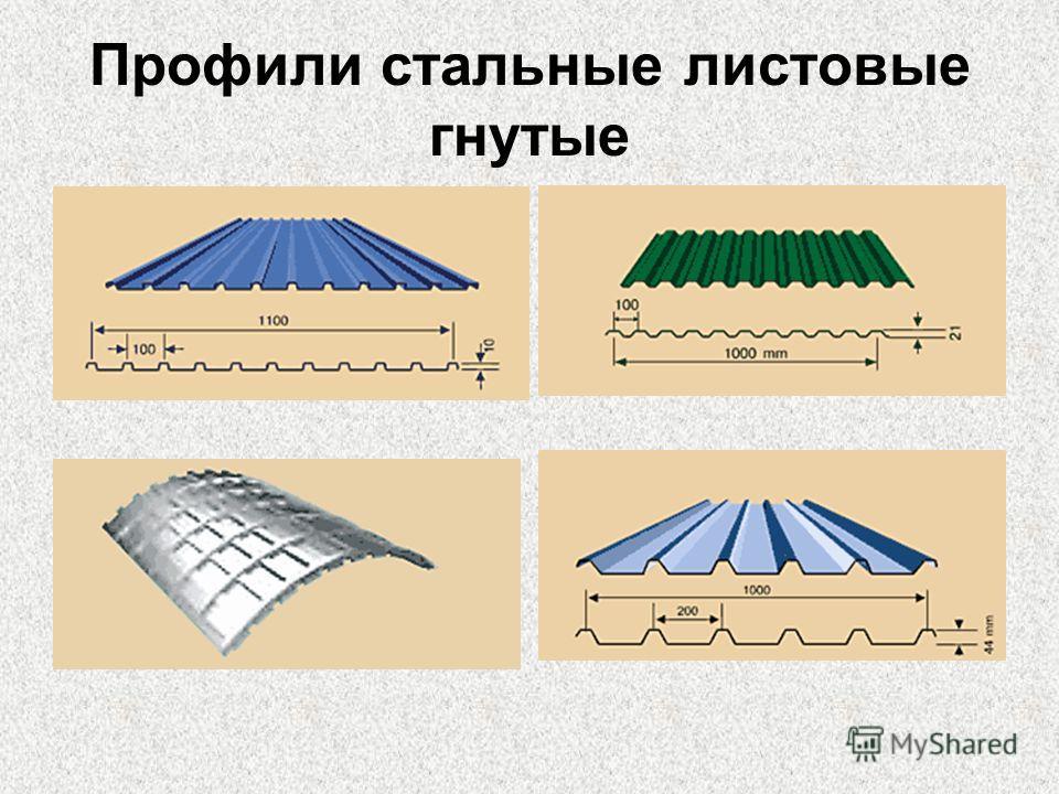 Профили стальные листовые гнутые