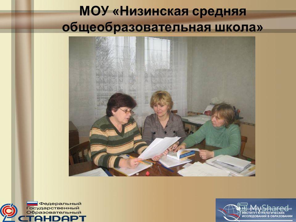 МОУ «Низинская средняя общеобразовательная школа»