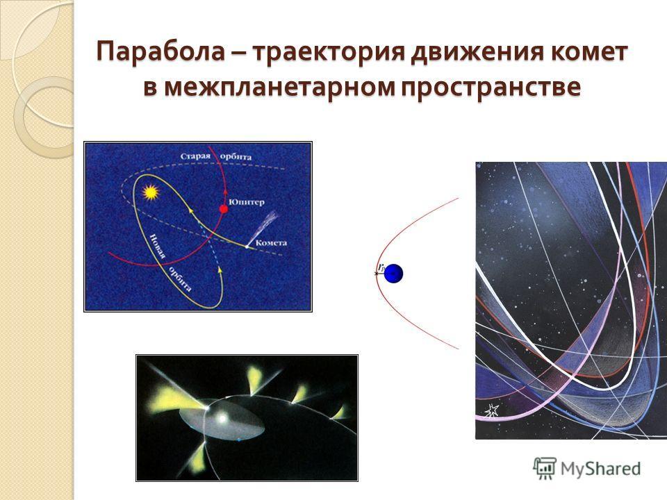 Парабола – траектория движения комет в межпланетарном пространстве