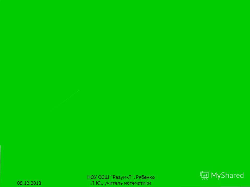 Плоскость Поверхность стола дает представление о плоскости. Но эта поверхность имеет края. У плоскости края нет! 08.12.2013 НОУ ОСШ Разум-Л, Рябенко Л.Ю., учитель математики