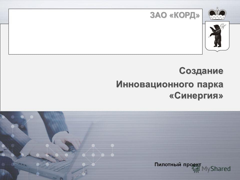 ЗАО «КОРД» Создание Инновационного парка «Синергия» Пилотный проект