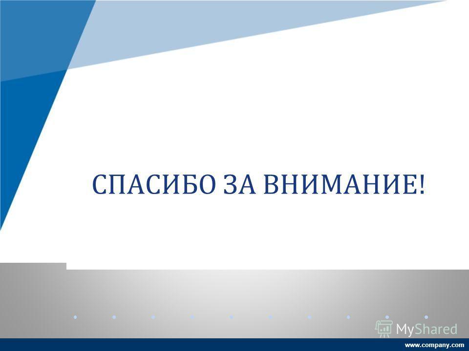 www.company.com СПАСИБО ЗА ВНИМАНИЕ!