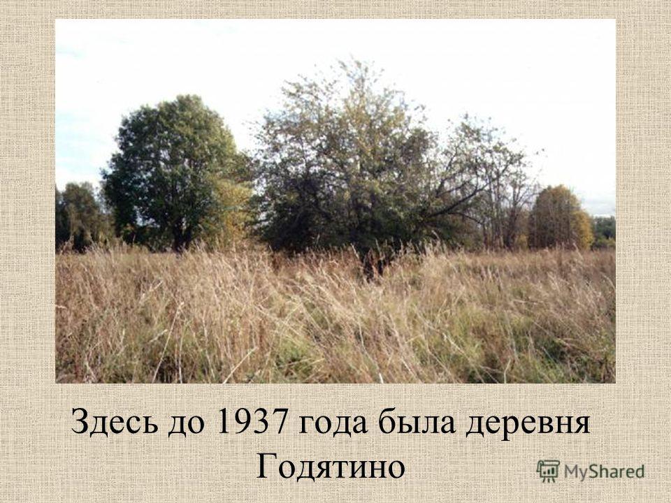Здесь до 1937 года была деревня Годятино