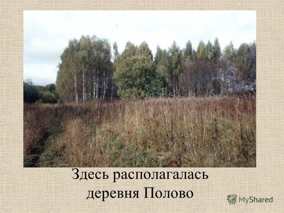 Здесь располагалась деревня Полово