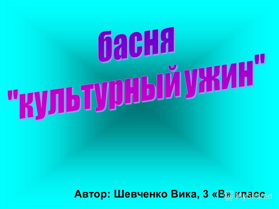 Автор: Шевченко Вика, 3 «В» класс