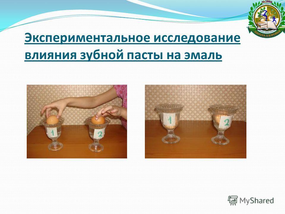 Экспериментальное исследование влияния зубной пасты на эмаль