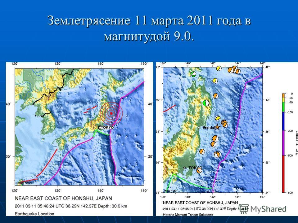 Землетрясение 11 марта 2011 года в магнитудой 9.0.