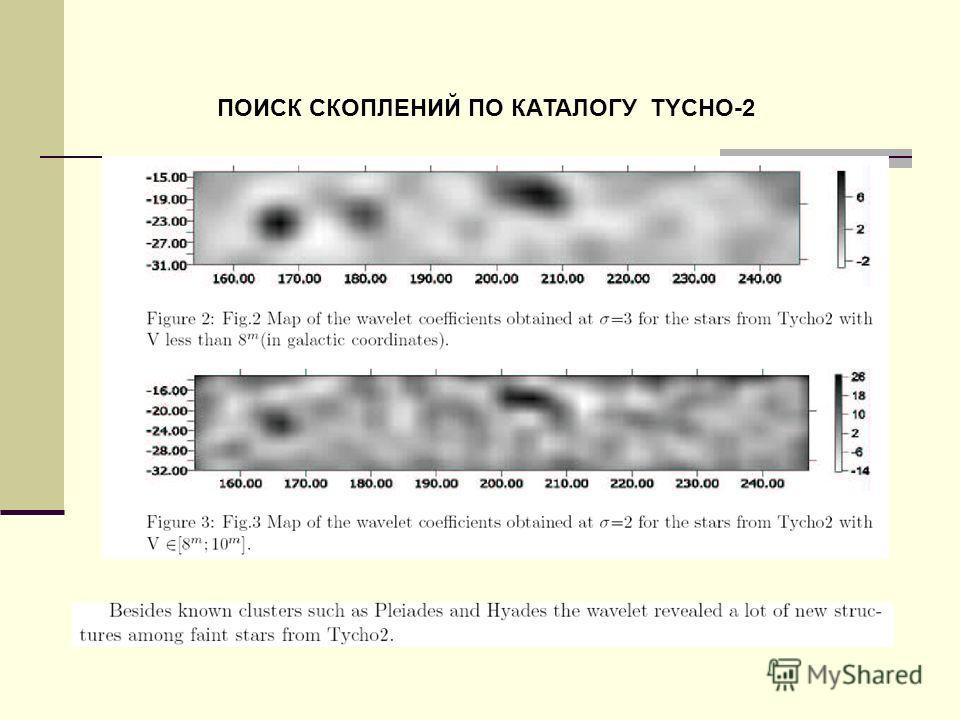 ПОИСК СКОПЛЕНИЙ ПО КАТАЛОГУ TYCHO-2