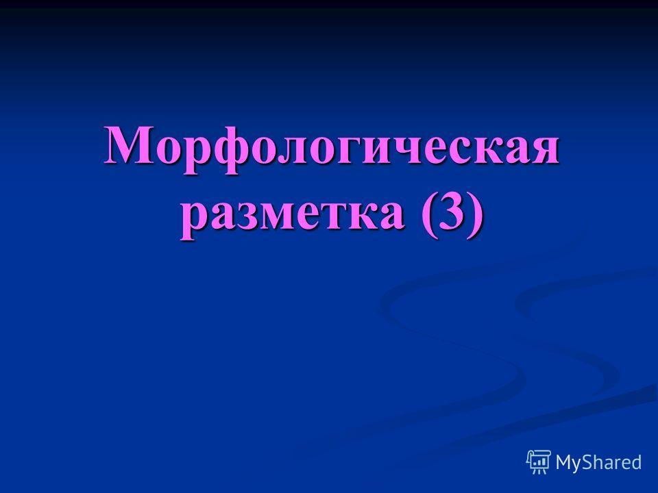 Морфологическая разметка (3)