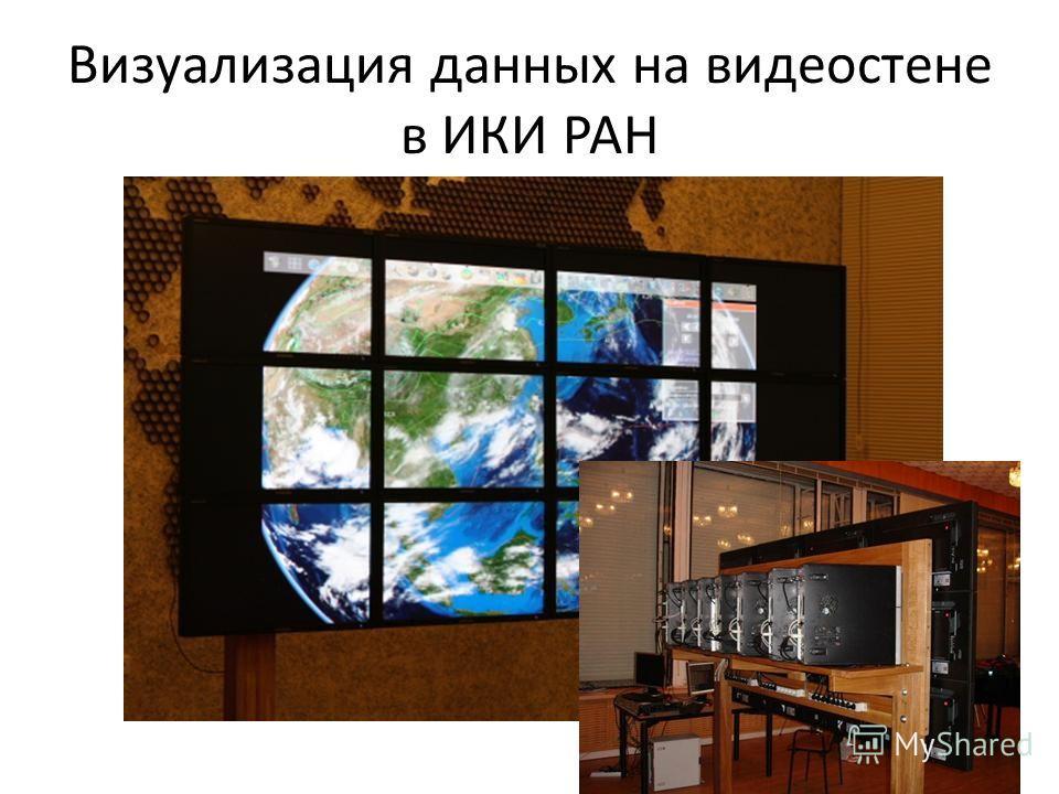 Визуализация данных на видеостене в ИКИ РАН