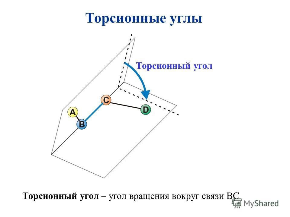 Торсионный угол Торсионный угол – угол вращения вокруг связи ВС