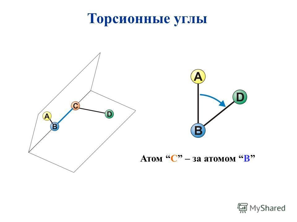 Торсионные углы Атом C – за атомом B