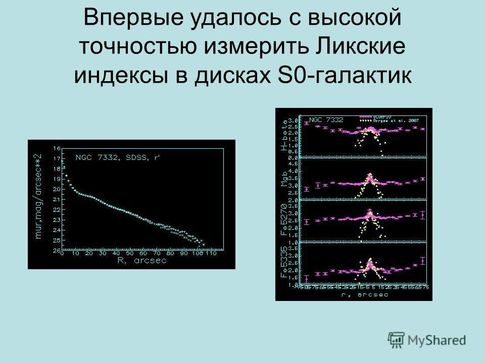 Впервые удалось с высокой точностью измерить Ликские индексы в дисках S0-галактик