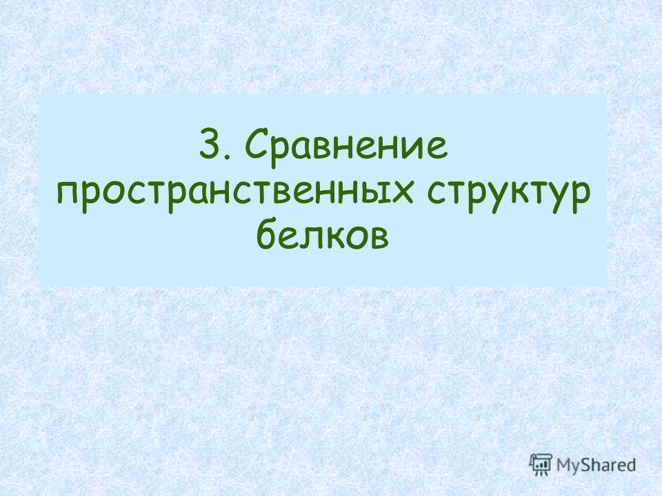 3. Сравнение пространственных структур белков