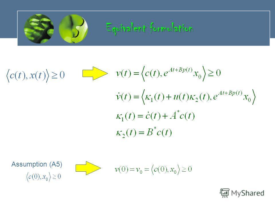 Assumption (A5) Equivalent formulation