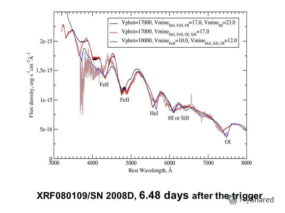 XRF080109/SN 2008D, 6.48 days after the trigger