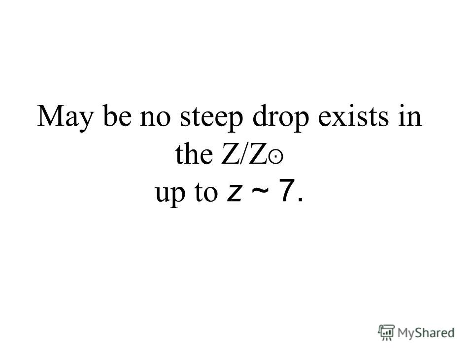 May be no steep drop exists in the Z/Z ʘ up to z ~ 7.