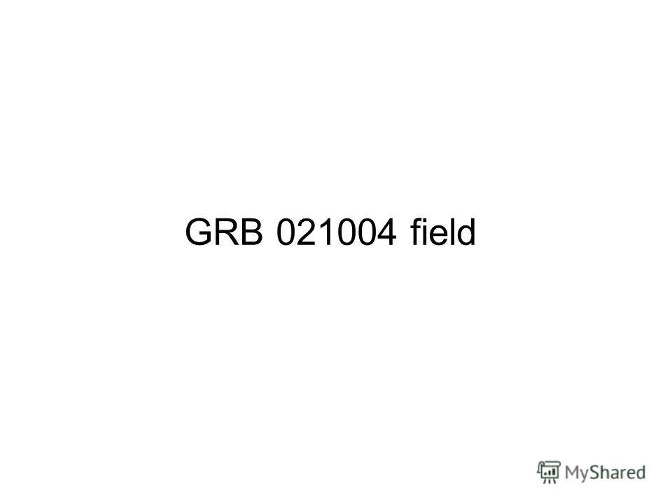 GRB 021004 field
