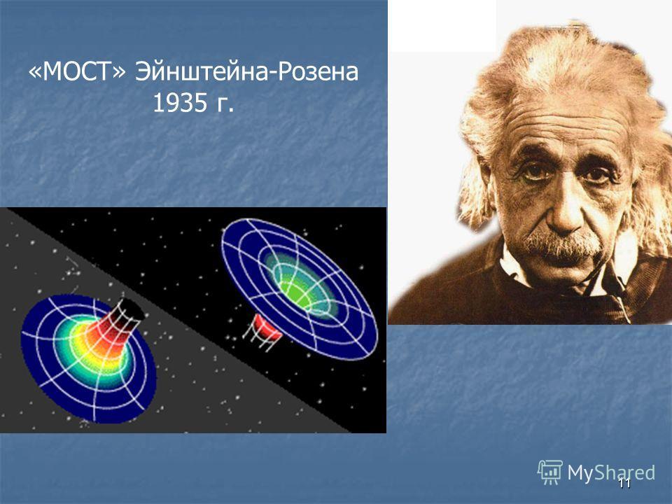 11 «МОСТ» Эйнштейна-Розена 1935 г.
