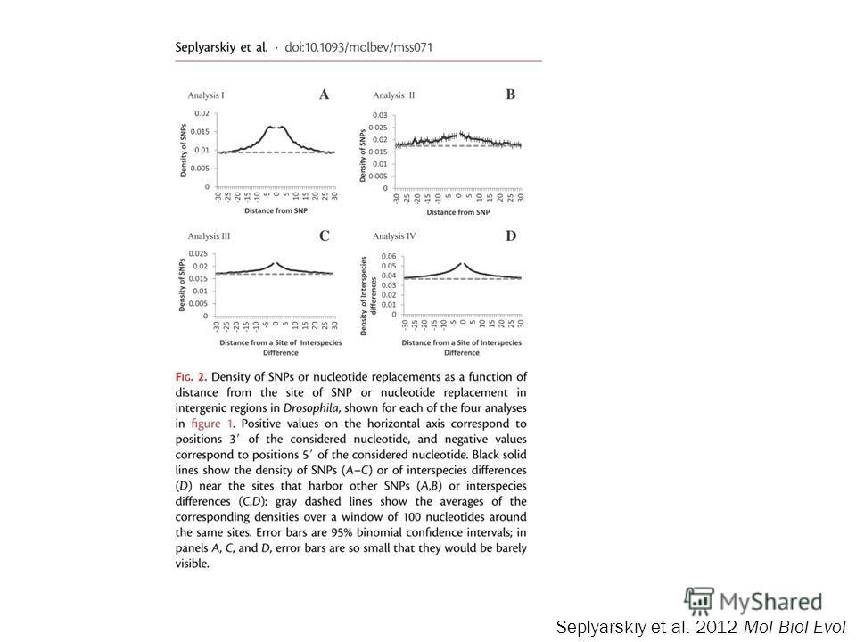 Seplyarskiy et al. 2012 Mol Biol Evol