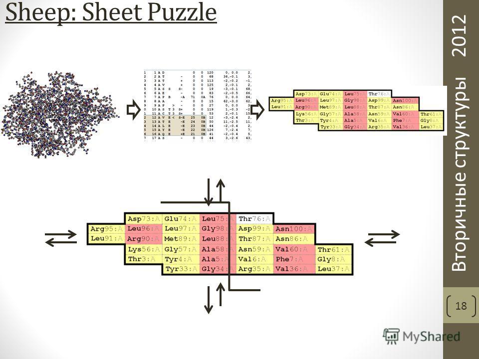 Вторичные структуры 2012 Sheep: Sheet Puzzle 18