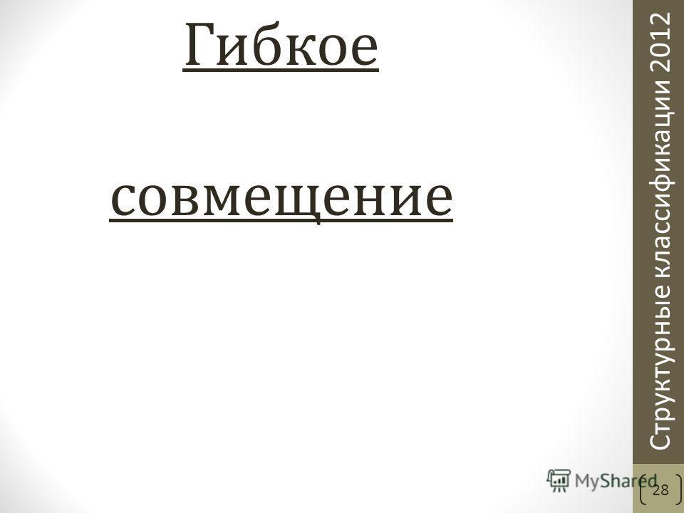 Структурные классификации 2012 Гибкое совмещение 28