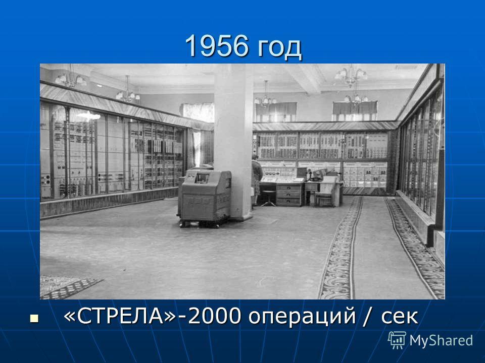 1956 год «СТРЕЛА»-2000 операций / сек «СТРЕЛА»-2000 операций / сек