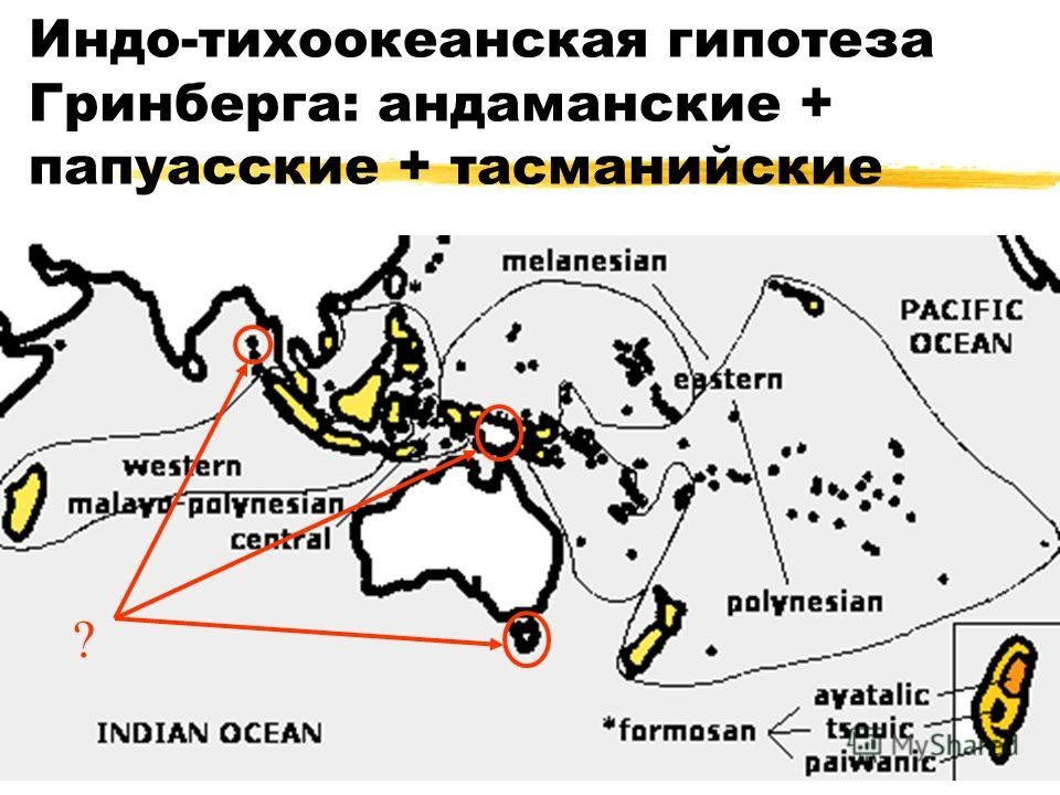 Индо-тихоокеанская гипотеза Гринберга: андаманские + папуасские + тасманийские ?