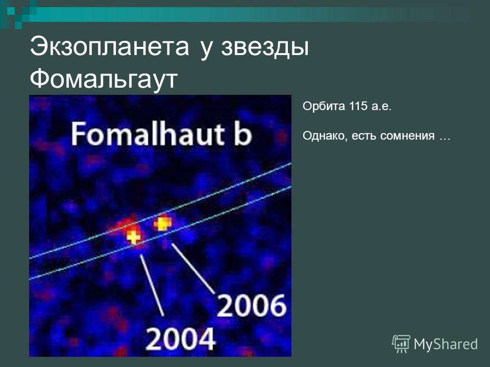 Экзопланета у звезды Фомальгаут Орбита 115 а.е. Однако, есть сомнения …