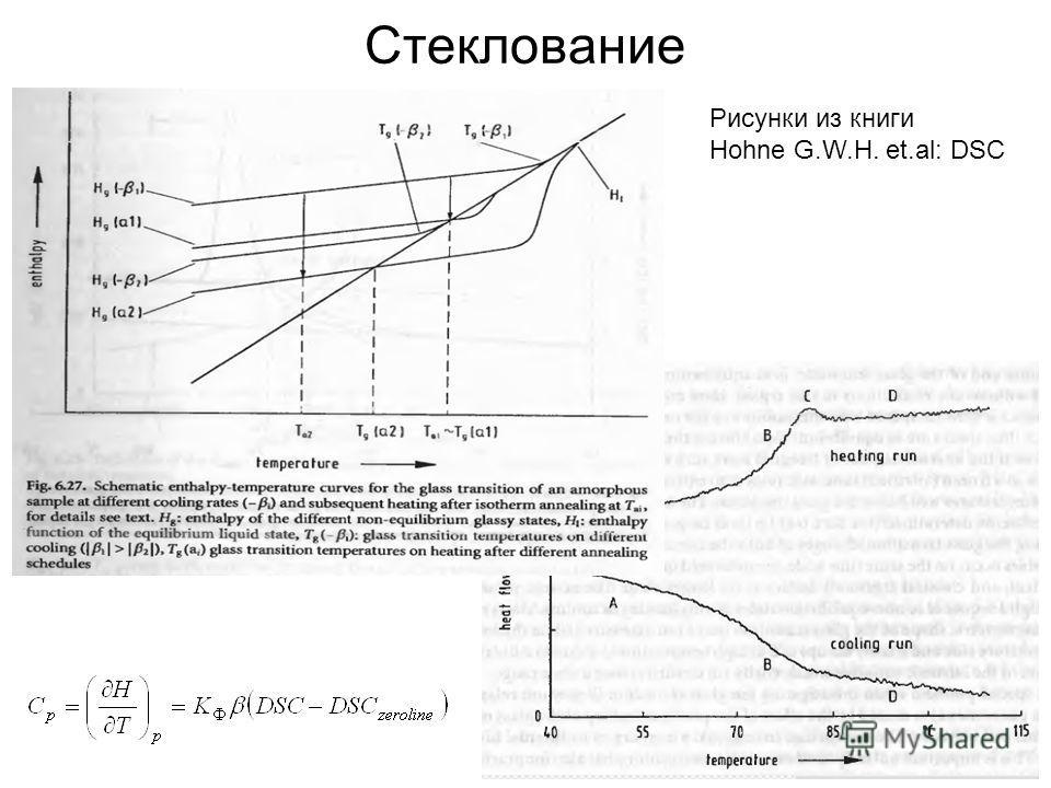 Стеклование Рисунки из книги Hohne G.W.H. et.al: DSC