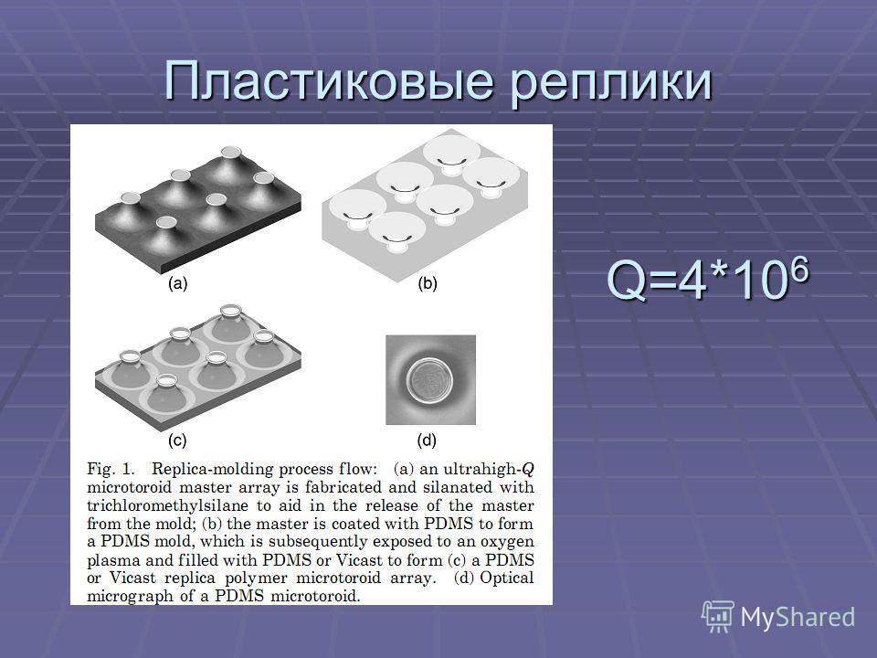 Пластиковые реплики Q=4*10 6