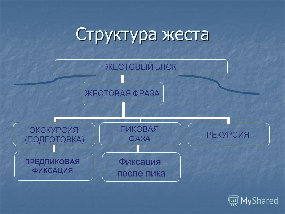 Структура жеста