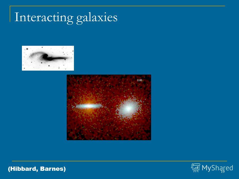 19 Interacting galaxies (Hibbard, Barnes)