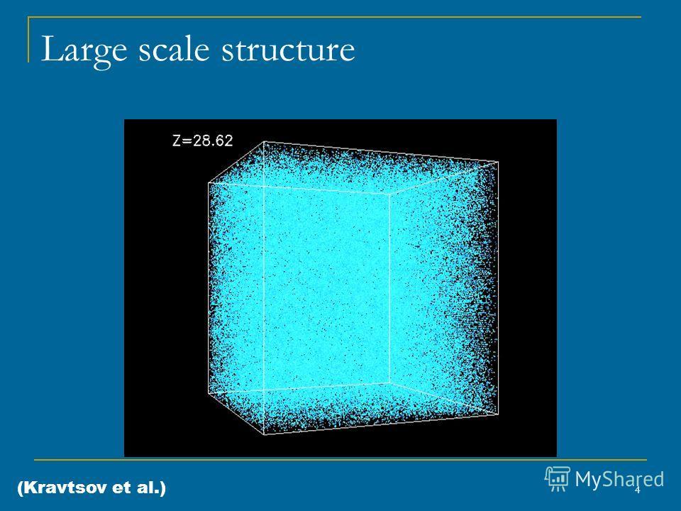 4 Large scale structure (Kravtsov et al.)