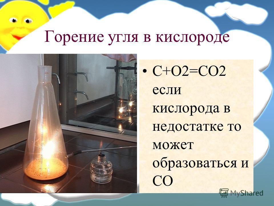 Горение угля в кислороде c o2 co2 если