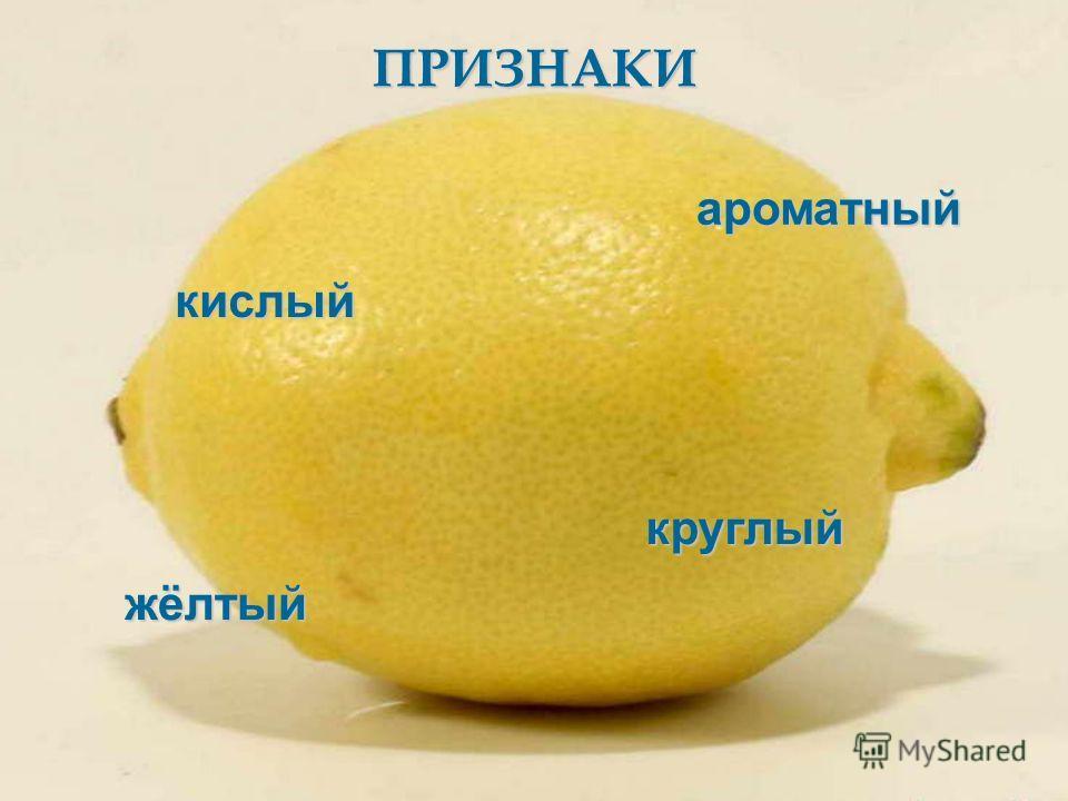 ПРИЗНАКИ кислый жёлтый круглый ароматный