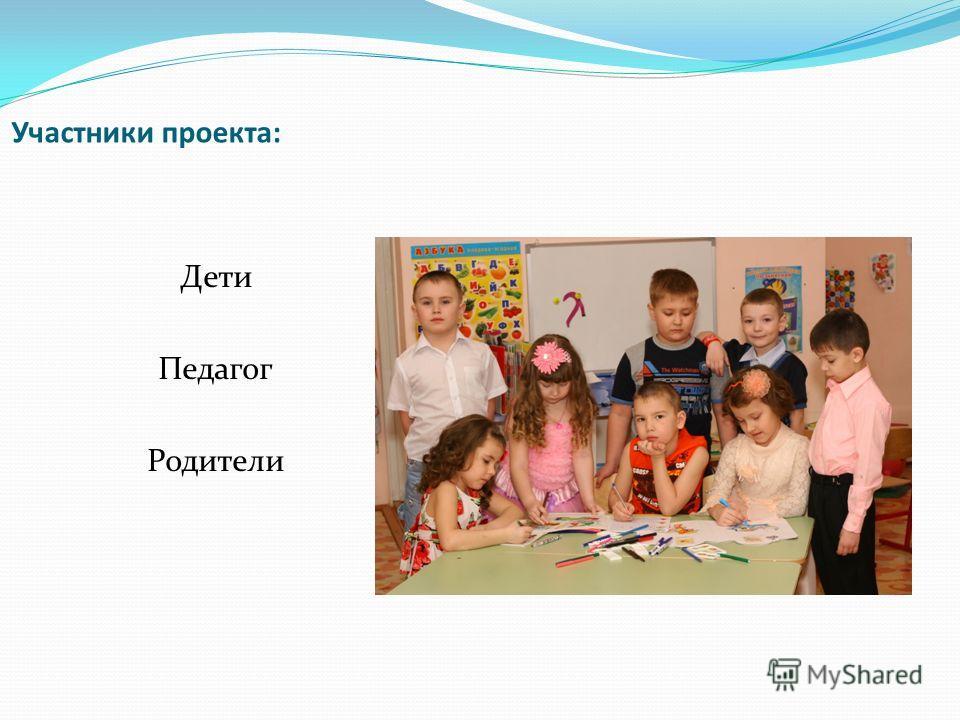 Участники проекта: Дети Педагог Родители