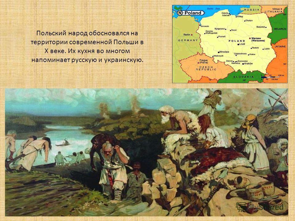 Польский народ обосновался на территории современной Польши в Х веке. Их кухня во многом напоминает русскую и украинскую.