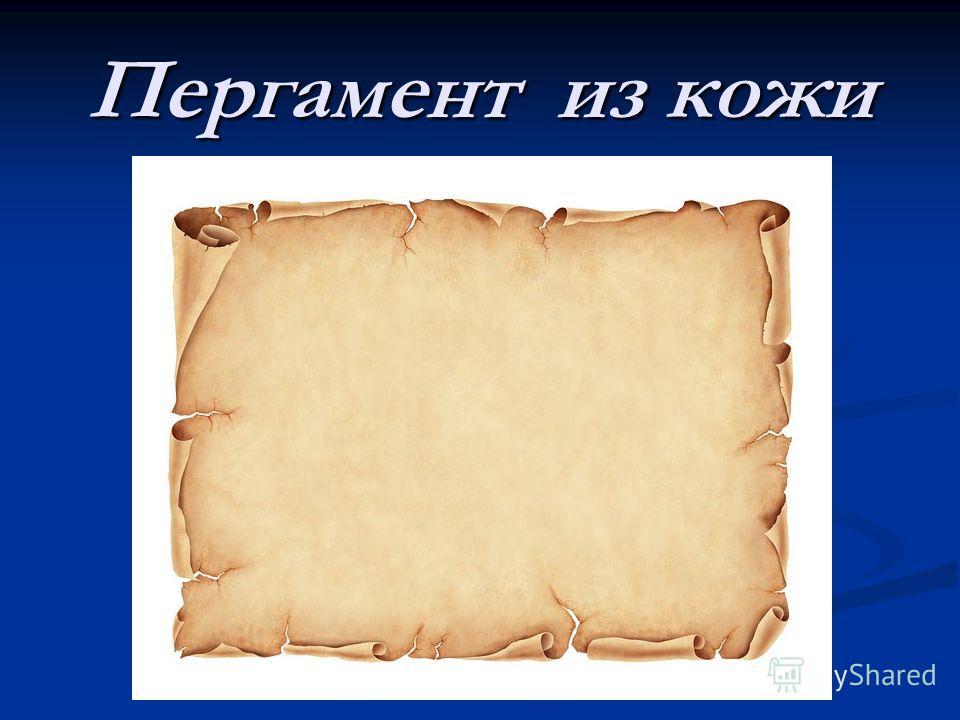 Пергамент из кожи