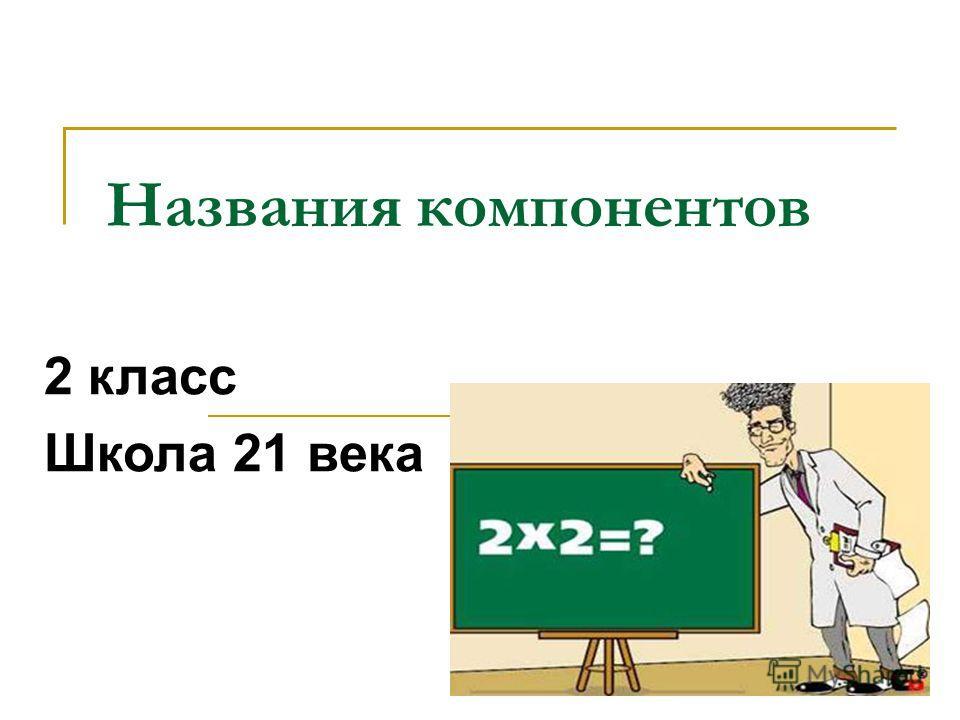 Названия компонентов 2 класс Школа 21 века