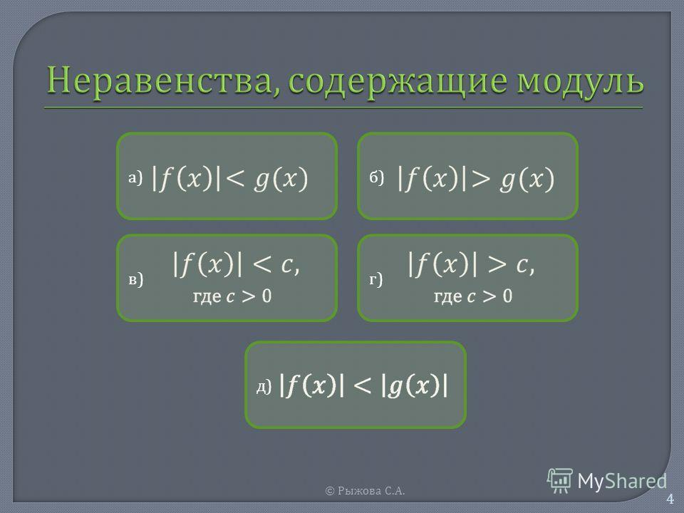 © Рыжова С. А. 4 а)а) б)б) в)в) г)г) д)д)